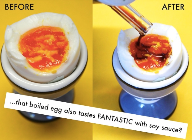 boiled egg with soya